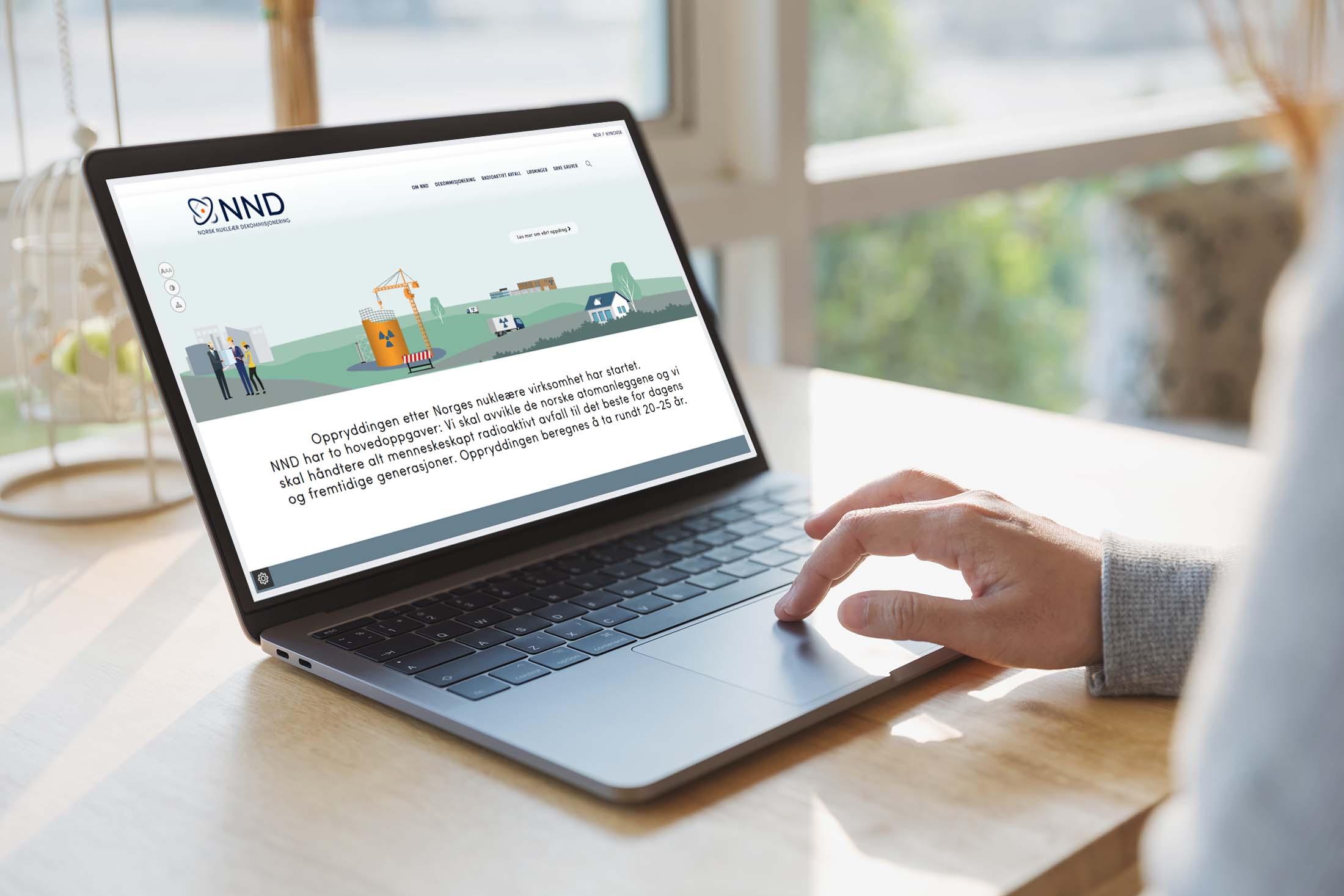 Norsk nukleær dekommisjonering (NND) nettside redesign